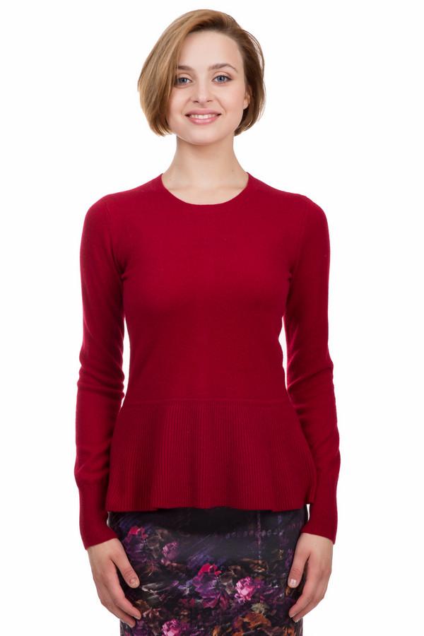 Пуловер Just ValeriПуловеры<br>Оригинальный пуловер от бренда Just Valeri выполнен из мягкого трикотажа красного цвета. Изделие дополнено круглым воротом и длинными рукавами. Снизу пуловер оформлен баской. На спинке расположена декоративная планка с пуговицами в виде цветочков контрастного цвета. Ворот, манжеты и нижний кант оформлены эластичной трикотажной резинкой.<br><br>Размер RU: 52<br>Пол: Женский<br>Возраст: Взрослый<br>Материал: кашемир 100%<br>Цвет: Красный