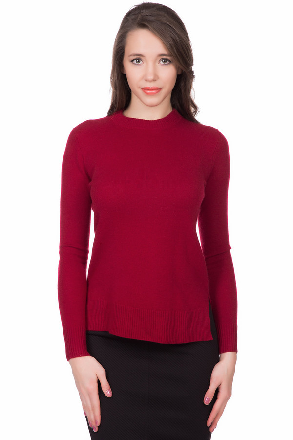Пуловер Just ValeriПуловеры<br>Красный женский пуловер от бренда Just Valeri прямого кроя выполнен из приятного и мягкого трикотажа состоящего на 100% из кашемира. Изделие дополнено воротником-стойка, удлиненной спинкой и длинными рукавами. Спинка оформлена v-образным вырезом с завязкой-ленточка. По бокам расположены небольшие разрезы.<br><br>Размер RU: 44<br>Пол: Женский<br>Возраст: Взрослый<br>Материал: кашемир 100%<br>Цвет: Красный