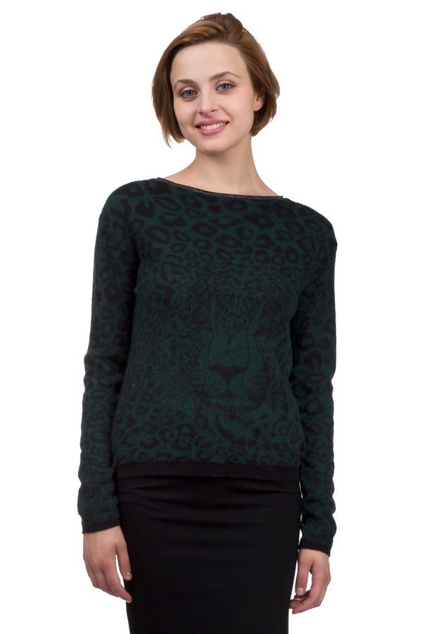 Пуловер PassportПуловеры<br>Оригинальный женский пуловер от бренда Passport зелёного и чёрного цветов. Это изделие было выполнено из вискозы, полиакрила и шерсти. Данная модель предназначена для демисезонного периода. Дополнена темным изображением леопарда. Пуловер сидит по фигуре. Сочетается с темной однотонной одеждой.<br><br>Размер RU: 44/46<br>Пол: Женский<br>Возраст: Взрослый<br>Материал: вискоза 20%, полиакрил 60%, шерсть 20%<br>Цвет: Чёрный