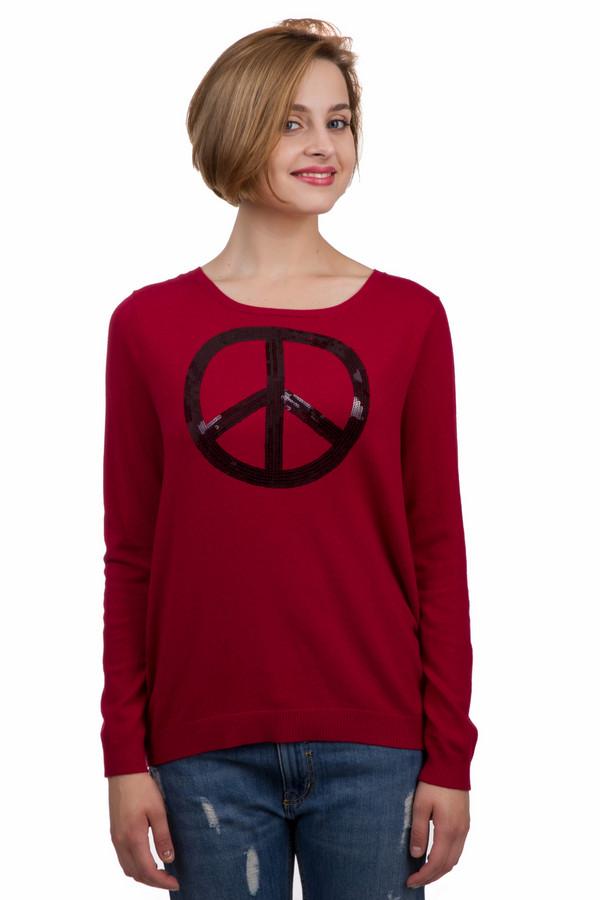 Пуловер Gerry WeberПуловеры<br>Модный женский пуловер Gerry Weber красного цвета. Это изделие было выполнено из хлопка, полиамида и вискозы. Данная модель предназначена для демисезонного периода. Дополнена черным рисунком на красном фоне. Пуловер свободного кроя, с длинными рукавами. Сочетается с темными джинсами, темными юбками и шортами.<br><br>Размер RU: 46<br>Пол: Женский<br>Возраст: Взрослый<br>Материал: хлопок 30%, полиамид 25%, вискоза 45%<br>Цвет: Чёрный