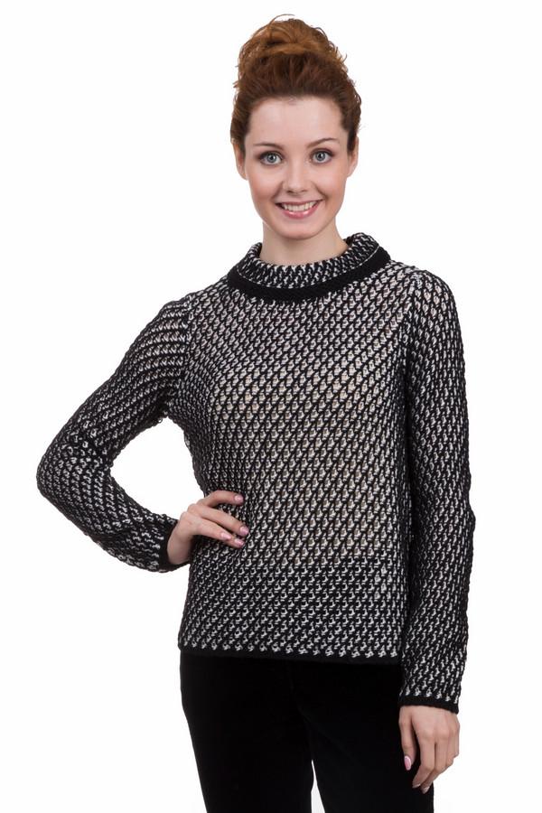 Пуловер Gerry WeberПуловеры<br>Стильный женский пуловер Gerry Weber черного и белого цветов. Это изделие было изготовлено из шерсти, полиакрила, вискозы и альпака. Данная модель предназначена для зимнего периода. Пуловер выполнен крупной вязкой. Лучше всего смотрится с темной однотонной одеждой. Сочетается как с брюками, так и с юбками.<br><br>Размер RU: 42<br>Пол: Женский<br>Возраст: Взрослый<br>Материал: шерсть 10%, полиакрил 75%, вискоза 10%, альпака 5%<br>Цвет: Белый