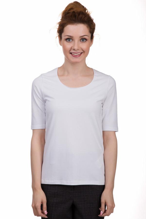 Футболка TaifunФутболки<br>Простая футболка от бренда Taifun белого цвета. Это изделие было выполнено из эластана, хлопка и модала. Данная модель является летней. Футболка свободного кроя. Удлиненные рукава. Является базовой вещью. Отлично подойдет на каждый день. Можно сочетать с различными яркими аксессуарами для вечернего выхода.<br><br>Размер RU: 40<br>Пол: Женский<br>Возраст: Взрослый<br>Материал: эластан 5%, хлопок 48%, модал 47%<br>Цвет: Белый