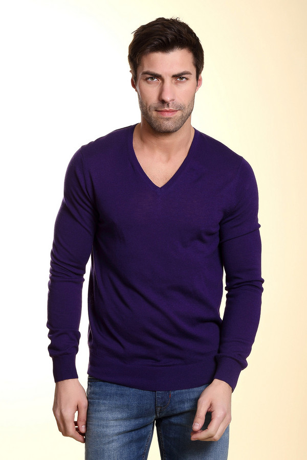 Джемпер OlympДжемперы<br><br><br>Размер RU: 50-52<br>Пол: Мужской<br>Возраст: Взрослый<br>Материал: шелк 15%, шерсть 85%<br>Цвет: Фиолетовый
