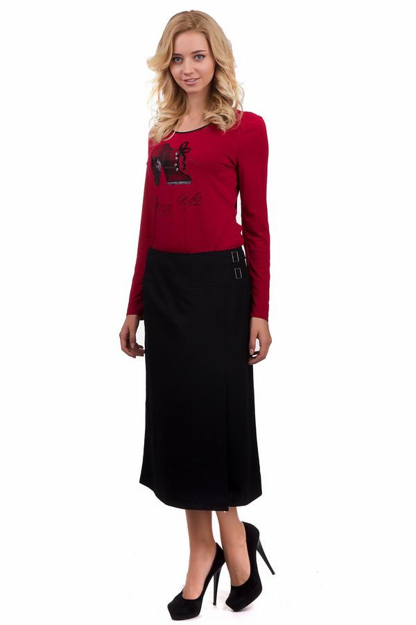 Юбка Gerry WeberЮбки<br>Строгая женская юбка Gerry Weber черного цвета. Это изделие было выполнено из эластана, полиэстера и вискозы. Данная модель предназначена для демисезонного периода. Юбка расклёшенная к низу. Дополнена сверху резинкой и сбоку двумя ремешками. Сочетается с одеждой разных стилей и расцветок. Лучше всего смотрится с обувью на каблуке.<br><br>Размер RU: 44<br>Пол: Женский<br>Возраст: Взрослый<br>Материал: эластан 3%, полиэстер 65%, вискоза 32%<br>Цвет: Чёрный