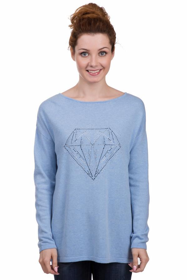 Пуловер Gerry WeberПуловеры<br>Оригинальный женский пуловер от бренда Gerry Weber голубого цвета. Это изделие было изготовлено из шерсти, кашемира, полиамида и вискозы. Данная модель предназначена для демисезонного периода. Дополнена большим изображением бриллианта из сребристых камней.<br><br>Размер RU: 48<br>Пол: Женский<br>Возраст: Взрослый<br>Материал: шерсть 30%, кашемир 5%, полиамид 30%, вискоза 35%<br>Цвет: Голубой