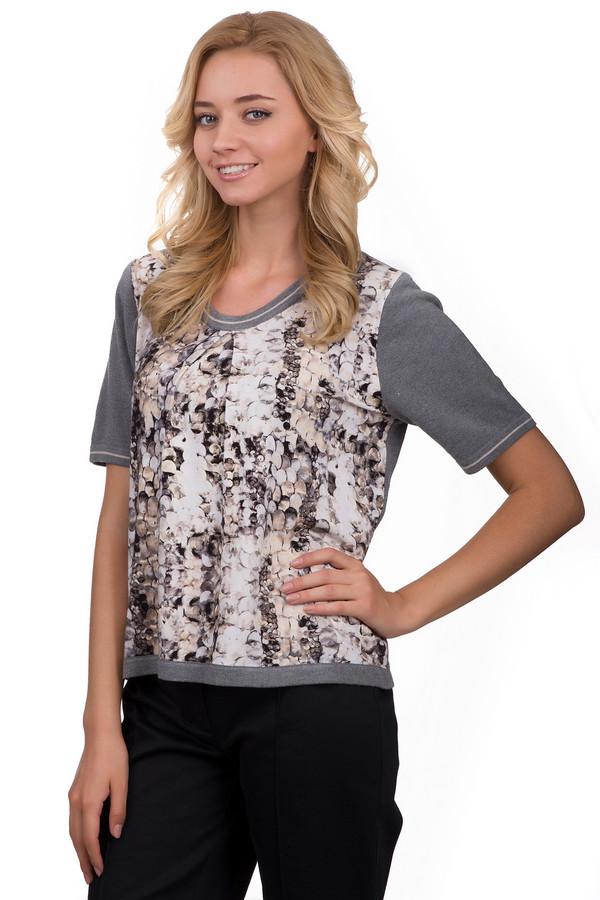 Пуловер Eugen KleinПуловеры<br>Оригинальный женский пуловер Eugen Klein серого цвета с чёрными, белыми и бежевыми элементами. Это изделие было выполнено из эластана, полиакрила и модала. Данная модель предназначена для летнего сезона. Пуловер свободного кроя и с короткими рукавами. Дополнен интересным рисунком. Рукава выполнены в сером цвете.<br><br>Размер RU: 48<br>Пол: Женский<br>Возраст: Взрослый<br>Материал: эластан 14%, полиакрил 40%, модал 46%<br>Цвет: Разноцветный
