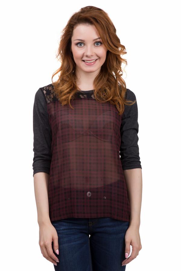 Блузa QSБлузы<br>Оригинальная женская блуза от бренда QS серого, чёрного и красного цветов. Эта модель была сделана из полиэстера и хлопка. Данное изделие предназначено для демисезонного периода. Блуза свободного кроя. Дополнена кружевной вставкой и мелкой клеткой. Рукава укороченные. Такая вещь будет ярким акцентном в любом образе.<br><br>Размер RU: 44-46<br>Пол: Женский<br>Возраст: Взрослый<br>Материал: полиэстер 48%, хлопок 52%<br>Цвет: Разноцветный