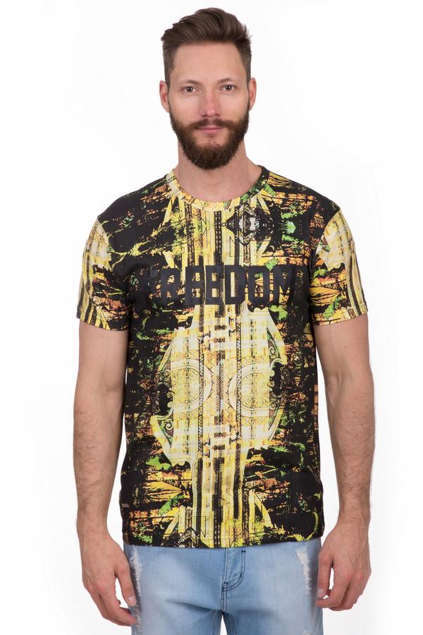 Футболкa Eleven ParisФутболки<br>Яркая мужская футболка от бренда Eleven Paris жёлтого, чёрного и зелёного цветов. Эта модель была сделана из натурального хлопка. Данное изделие предназначено для летнего сезона. Дополнено ярким орнаментом и черной крупной надписью. Футболка свободного кроя. Будет оригинальным и стильным акцентом в любом повседневном образе.<br><br>Размер RU: 48<br>Пол: Мужской<br>Возраст: Взрослый<br>Материал: хлопок 100%<br>Цвет: Разноцветный