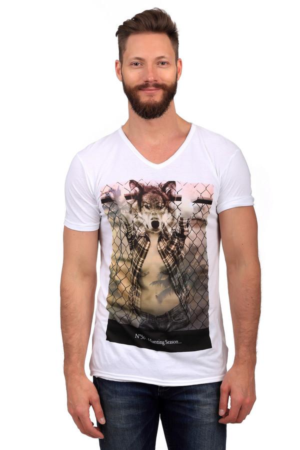 Футболкa Eleven ParisФутболки<br>Модная мужская футболка Eleven Paris черного, белого и бежевого цветов. Это изделие было изготовлено из натурального хлопка. Данная модель предназначена для теплого летнего сезона. Футболка дополнена оригинальным рисунком на белом фоне. Подойдет для активных и молодых людей. Сочетается с джинсы и шорты.<br><br>Размер RU: 48<br>Пол: Мужской<br>Возраст: Взрослый<br>Материал: хлопок 50%, модал 50%<br>Цвет: Разноцветный