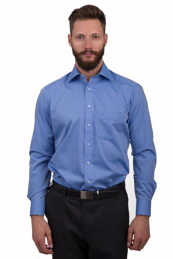 Рубашка с длинным рукавом MarvelisДлинный рукав<br>Строгая мужская рубашка от бренда Marvelis синего цвета. Это изделие было изготовлено из натурального хлопка. Данная модель предназначена для демисезонного периода. Дополнено карманом на груди, манжетами на рукавах. Застегивается с помощью маленьких белых пуговиц. Такая рубашка подойдет для любого повода и мероприятия.<br><br>Размер RU: 46<br>Пол: Мужской<br>Возраст: Взрослый<br>Материал: хлопок 100%<br>Цвет: Синий