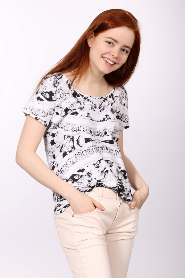женская футболка eleven paris, белая