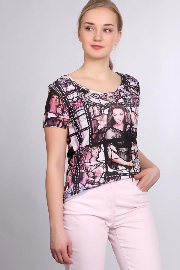 Футболка Eleven ParisФутболки<br>Оригинальная женская футболка от бренда Eleven Paris чёрного, белого, розового и бежевого цвета. Это изделие было выполнено из натурального хлопка. Данная модель предназначена для летнего периода. Дополнена интересным разноцветным изображением. Футболка облегающая и рукава короткие. Отличный вариант для вечерней летней прогулки.<br><br>Размер RU: 44-46<br>Пол: Женский<br>Возраст: Взрослый<br>Материал: хлопок 100%<br>Цвет: Разноцветный