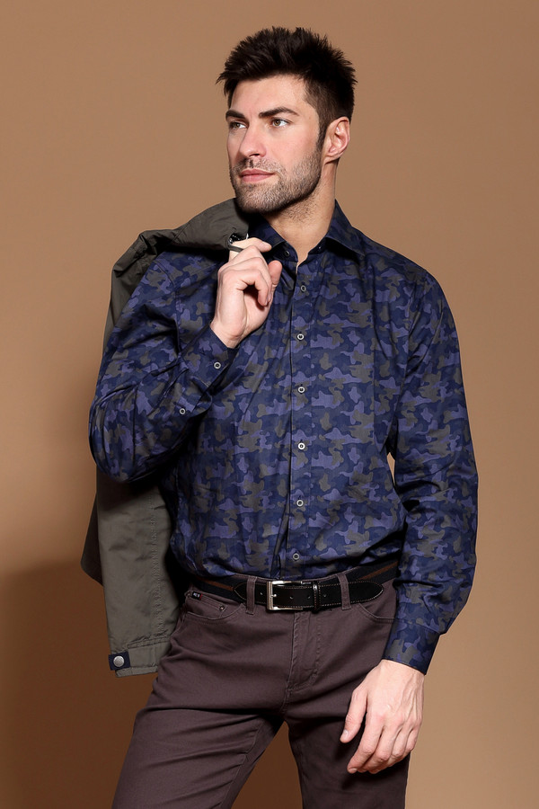 Рубашка с длинным рукавом MarvelisДлинный рукав<br><br><br>Размер RU: 44<br>Пол: Мужской<br>Возраст: Взрослый<br>Материал: хлопок 100%<br>Цвет: Зелёный