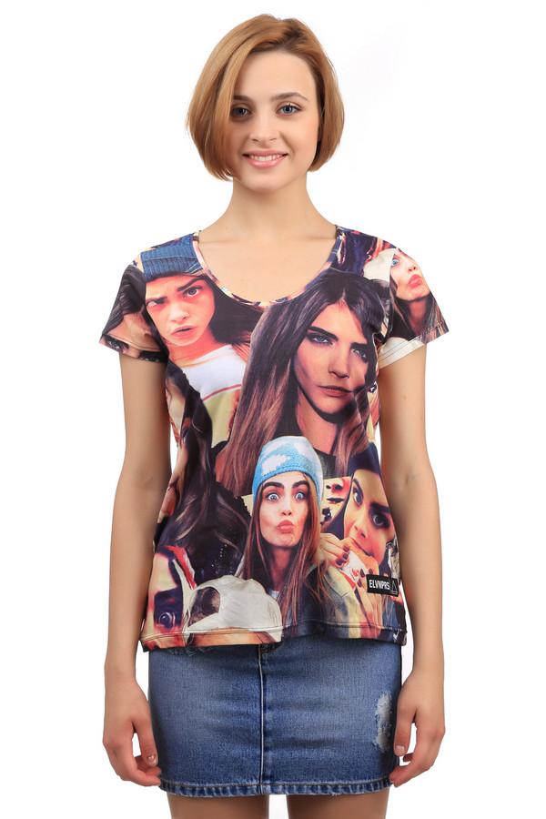женская футболка eleven paris, разноцветная