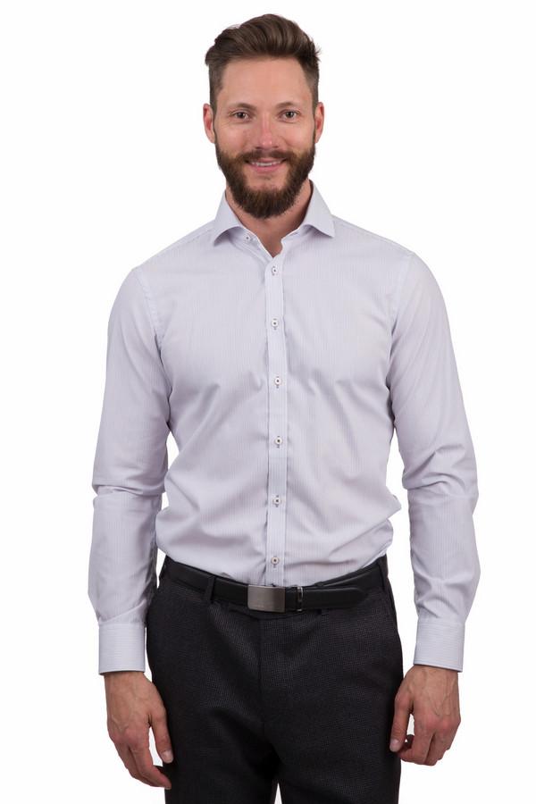 Рубашка с длинным рукавом VentiДлинный рукав<br>Строгая мужская рубашка от бренда Venti белого, синего и сиреневого цветов. Эта модель была сделана из натурального хлопка. Данная модель предназначена для демисезонного периода. Дополнена мелким полосатым рисунком, манжетами на рукавах. Застегивается с помощью маленьких белых пуговиц. Рубашка свободного кроя и с длинными рукавами. Оптимальный вариант для деловых встреч.<br><br>Размер RU: 45<br>Пол: Мужской<br>Возраст: Взрослый<br>Материал: хлопок 100%<br>Цвет: Разноцветный