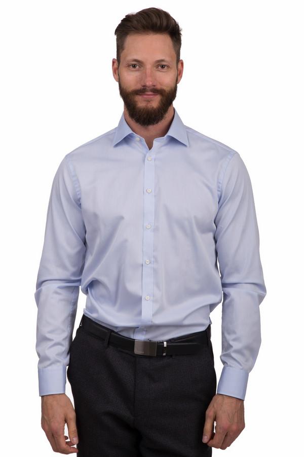 Рубашка с длинным рукавом VentiДлинный рукав<br>Классическая мужская рубашка от бренда Venti голубого цвета. Это изделие было выполнено из натурального хлопка. Данная модель является демисезонной. Дополнена манжетами на рукавах. Застегивается с помощью маленьких белых пуговиц. Отличный вариант для повседневного образа. Сочетается как со строгими брюками, так и с джинсами.<br><br>Размер RU: 45<br>Пол: Мужской<br>Возраст: Взрослый<br>Материал: хлопок 100%<br>Цвет: Голубой