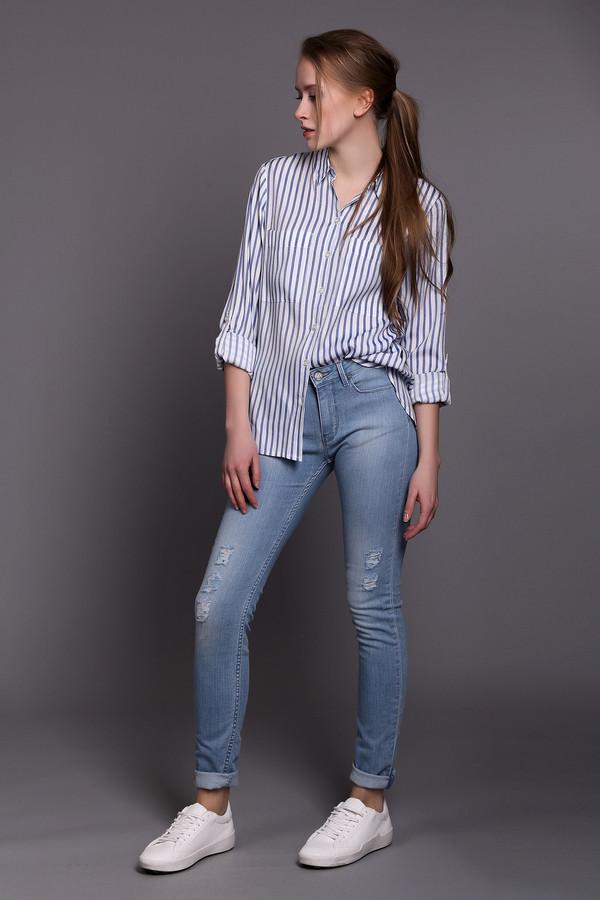 женские потертые джинсы eleven paris, голубые