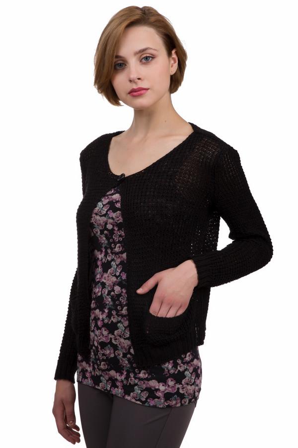 Джемпер Sai-KuДжемперы<br>Красивый женский джемпер от бренда Sai-Ku черного цвета. Это изделие было выполнено из хлопка и акрила. Данная модель предназначена для демисезонного периода. Дополнен боковыми карманами. Застегивается с помощью маленького крючка. Выполнен крупной вязкой. Практичное и в то же время стильное решение на каждый день.<br><br>Размер RU: 44<br>Пол: Женский<br>Возраст: Взрослый<br>Материал: хлопок 50%, акрил 50%<br>Цвет: Чёрный