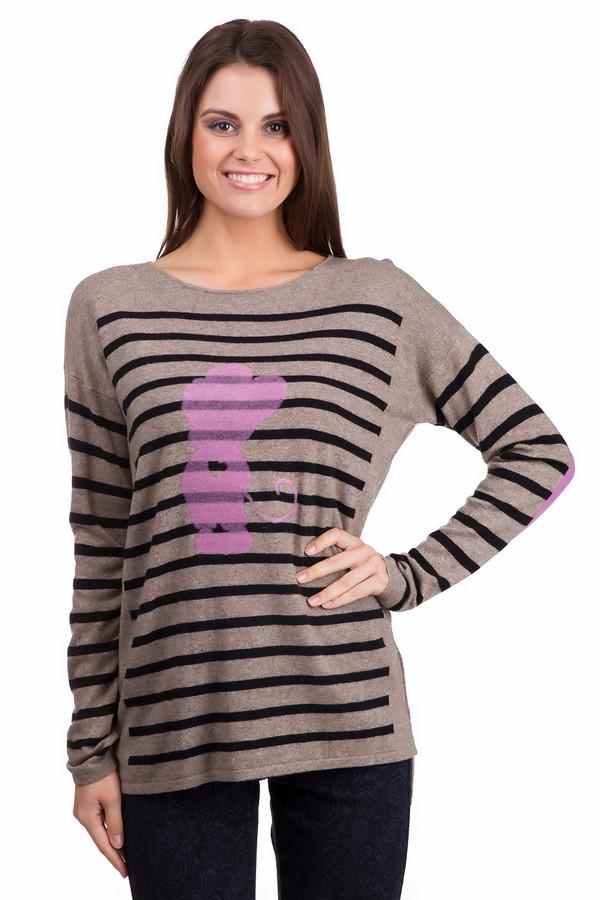 Пуловер OuiПуловеры<br>Оригинальный женский пуловер Oui бежевого цвета с чёрными и сиреневыми элементами. Эта модель была сделана из кашемира, шерсти, полиамида и вискозы. Данное изделие предназначено для демисезонного периода. Пуловер свободного кроя и с длинными рукавами. Дополнен широкими полосками и розовым ярким рисунком. Придаст любому образу яркости.<br><br>Размер RU: 40<br>Пол: Женский<br>Возраст: Взрослый<br>Материал: кашемир 5%, шерсть 45%, полиамид 10%, вискоза 40%<br>Цвет: Разноцветный