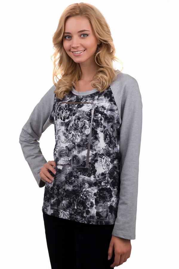 Пуловер Betty BarclayПуловеры<br>Оригинальный женский пуловер Betty Barclay серого цвета с чёрными и белыми элементами. Данное изделие было изготовлено из хлопка и эластана. Эта модель предназначена для демисезонного периода. Пуловер свободного кроя и с длинными рукавами. Дополнен черно-белым изображением роз.<br><br>Размер RU: 48<br>Пол: Женский<br>Возраст: Взрослый<br>Материал: хлопок 95%, эластан 5%<br>Цвет: Разноцветный