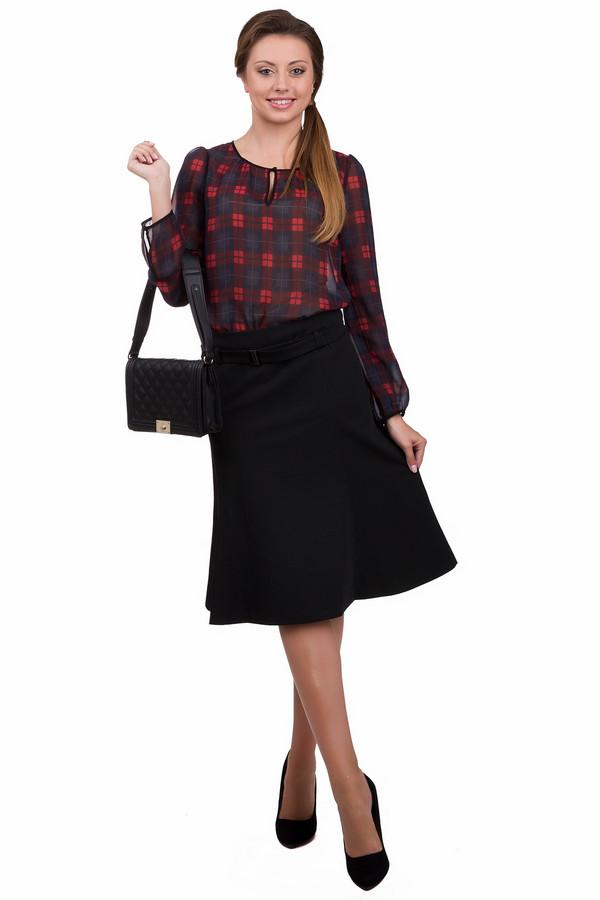 Юбка Betty BarclayЮбки<br>Стильная женская юбка Betty Barclay черного цвета. Данное изделие было изготовлено из эластана, вискозы и полиэстера. Эта модель является демисезонной. Юбка средней дины. По форме напоминает годе. Дополнена шлевками, тонким ремешком, застежкой сзади и резинкой сверху. Лучше всего смотрится с объемными блузами или рубашками.<br><br>Размер RU: 42<br>Пол: Женский<br>Возраст: Взрослый<br>Материал: эластан 6%, вискоза 28%, полиэстер 66%<br>Цвет: Чёрный