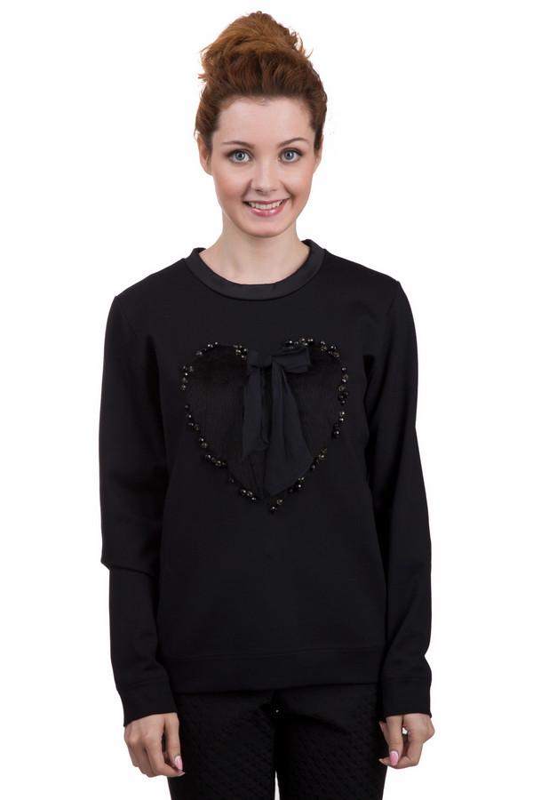 Пуловер Marc CainПуловеры<br>Модный женский пуловер Marc Cain черного цвета. Эта модель была сделана из эластана, полиамида и вискозы. Данное изделие предназначено для демисезонного периода. Пуловер свободного кроя и с длинными рукавами. Дополнен сердцем, выложенным из черных пайеток и маленьким бантиком. Это стильное и практичное решение на каждый день.<br><br>Размер RU: 46<br>Пол: Женский<br>Возраст: Взрослый<br>Материал: эластан 2%, полиамид 29%, вискоза 69%<br>Цвет: Чёрный