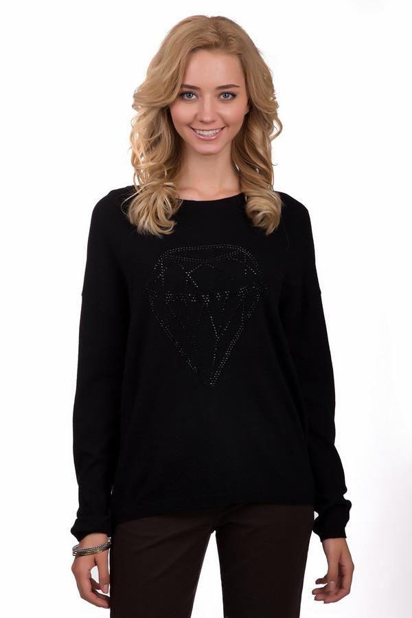 Пуловер Gerry WeberПуловеры<br>Практичный женский пуловер Gerry Weber черного цвета. Это изделие было выполнено из хлопка, кашемира, полиамида, шерсти и вискозы. Данная модель предназначена для демисезонного периода. Пуловер свободного кроя и с длинными рукавами. Дополнен крупным изображением бриллиантам из мелких блестящих камней. Отличный вариант на каждый день.<br><br>Размер RU: 46<br>Пол: Женский<br>Возраст: Взрослый<br>Материал: хлопок 30%, кашемир 5%, полиамид 18%, шерсть 10%, вискоза 37%<br>Цвет: Чёрный