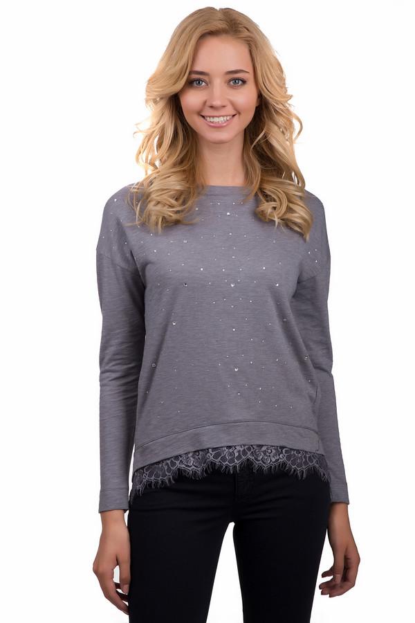 Пуловер PassportПуловеры<br>Стильный женский пуловер Passport серого цвета. Это изделие было изготовлено из полиэстера и хлопка. Данная модель является демисезонной. Пуловер свободного кроя и с длинными рукавами. Дополнен кружевными вставками внизу и мелкими блестящими камнями.<br><br>Размер RU: 48/50<br>Пол: Женский<br>Возраст: Взрослый<br>Материал: полиэстер 50%, хлопок 50%<br>Цвет: Серый