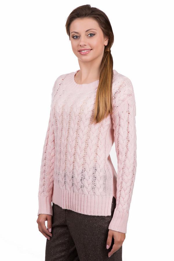 Пуловер PassportПуловеры<br>Модный женский пуловер Passport розового цвета. Это изделие было выполнено из полиакрила, шерсти и альпаки. Данная модель предназначена для демисезонного периода. Пуловер свободного кроя и с длинными рукавами. Дополнен маленькими боковыми разрезами, резинкой внизу, на рукавах и на вороте. Такое изделие добавит повседневному невзрачному образу нежности.<br><br>Размер RU: 46<br>Пол: Женский<br>Возраст: Взрослый<br>Материал: полиакрил 50%, шерсть 20%, альпака 30%<br>Цвет: Розовый