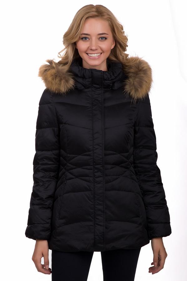 Куртка PezzoКуртки<br>Практичная женская куртка Pezzo черного цвета. Это изделие выполнено полностью из нейлона. Данная модель предназначена для холодной зимней погоды. Куртка средней длины. Дополнена удобными боковыми карманами и капюшоном с мехом. Такое изделие является незаменимой базовой вещью в гардеробе. Это практичное и стильное решение на зиму.<br><br>Размер RU: 50<br>Пол: Женский<br>Возраст: Взрослый<br>Материал: нейлон 100%<br>Цвет: Чёрный
