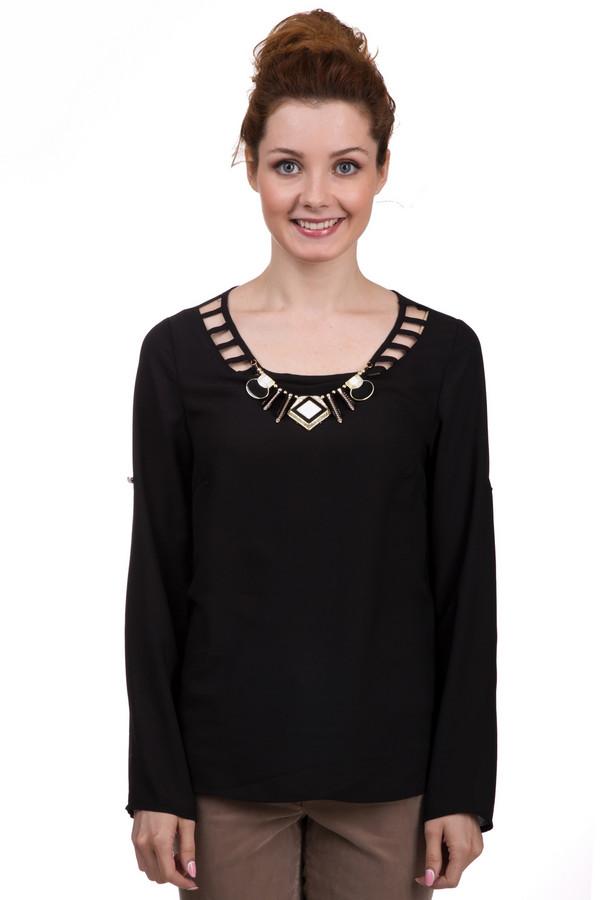 Блузa LocustБлузы<br>Стильная женская блуза Locust черного цвета. Это изделие было выполнено из полиэстера. Данная модель является демисезонной. Блуза свободного кроя и с длинными рукавами. Дополнена золотым массивным украшением. Сочетается как с брюками, так и с юбками. Отлично смотрится с одеждой разных цветов и оттенков.<br><br>Размер RU: 40-42<br>Пол: Женский<br>Возраст: Взрослый<br>Материал: полиэстер 100%<br>Цвет: Чёрный