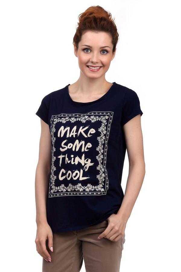 Футболка LocustФутболки<br>Модная летняя темно-синяя футболка от бренда Locust прямого кроя выполнена из натурального дышащего хлопка. Изделие дополнено круглым воротом и короткими рукавами. Фронтальная часть декорирована ажурным рисунком бежевого цвета с надписью MAKE SOME THING COOL. Стильная футболка будет гармонично смотреться как с   джинсами  , так и с   юбками   или   шортами  .<br><br>Размер RU: 40-42<br>Пол: Женский<br>Возраст: Взрослый<br>Материал: хлопок 100%<br>Цвет: Бежевый