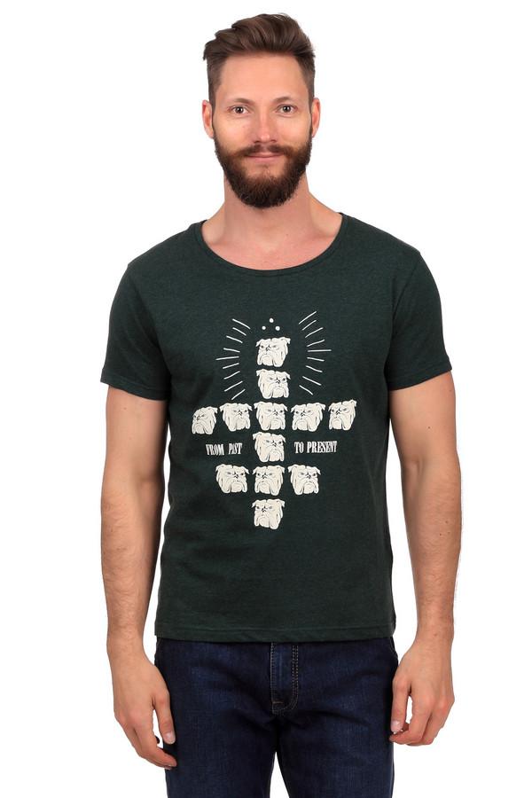 Футболкa LocustФутболки<br>Темно-зеленая футболка от бренда Locust выполнена из хлопкового материала приятного на ощупь. Изделие дополнено круглым воротом и короткими рукавами до середины плеча. Фронтальная часть оформлена необычным рисунком в виде множества бульдогов и надписями.<br><br>Размер RU: 50-52<br>Пол: Мужской<br>Возраст: Взрослый<br>Материал: хлопок 100%<br>Цвет: Белый