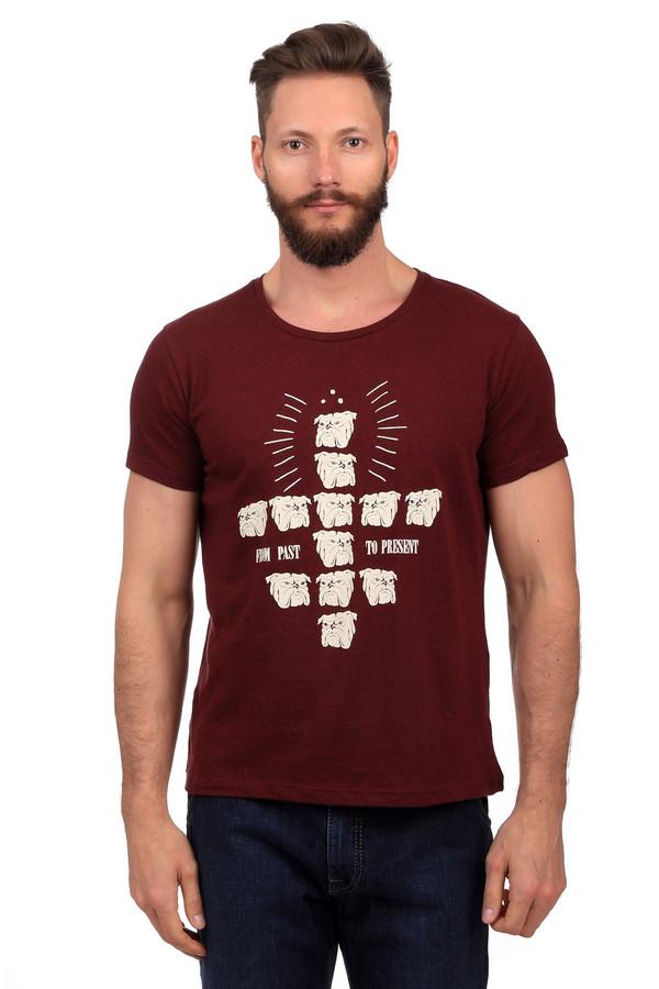 Футболкa LocustФутболки<br>Бордовая футболка от бренда Locust выполнена из хлопкового материала приятного на ощупь. Изделие дополнено круглым воротом и короткими рукавами до середины плеча. Фронтальная часть оформлена необычным рисунком в виде множества бульдогов и надписями.<br><br>Размер RU: 52-54<br>Пол: Мужской<br>Возраст: Взрослый<br>Материал: хлопок 100%<br>Цвет: Белый