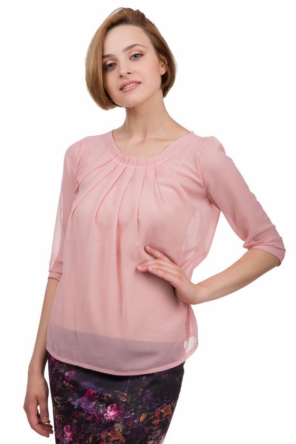 Блузa LocustБлузы<br>Элегантная женская блуза Locust розового цвета. Это изделие было выполнено из полиэстера. Данная модель предназначена для демисезонного периода. Блуза свободного кроя. Рукава немного укороченные. Дополнена сверху крупными складками. Простое и элегантное решение для любого образа. Лучше всего смотрится с узкими юбками средней длины.<br><br>Размер RU: 52-54<br>Пол: Женский<br>Возраст: Взрослый<br>Материал: полиэстер 100%<br>Цвет: Розовый