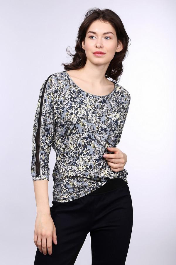 Блузa TaifunБлузы<br>Яркая женская блуза Taifun голубого цвета с чёрными, серыми, белыми и зелёными элементами. Это изделие было выполнено из эластана и вискозы. Данная модель предназначена для демисезонного периода. Блуза свободного кроя и с укороченными рукавами. Дополнена темным разноцветным рисунком. Можно носить и в заправленном варианте. Сочетается с однотонными вещами.<br><br>Размер RU: 46<br>Пол: Женский<br>Возраст: Взрослый<br>Материал: эластан 5%, вискоза 95%<br>Цвет: Разноцветный