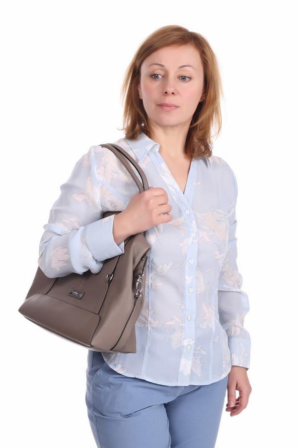 Блузa PezzoБлузы<br>Нежно-голубая блуза для женщин от бренда Pezzo приталенного кроя выполнена из полупрозрачной ткани. Изделие дополнено: отложным воротником с v-образным воротом и длинными рукавами с манжетами на пуговицах. Центральная часть застегивается на планку с пуговицами. Блуза декорирована цветочным принтом. Прекрасный выбор для офисно-делового стиля, гармонично смотрится как с брюками, так и с юбками.<br><br>Размер RU: 50<br>Пол: Женский<br>Возраст: Взрослый<br>Материал: полиэстер 100%<br>Цвет: Белый
