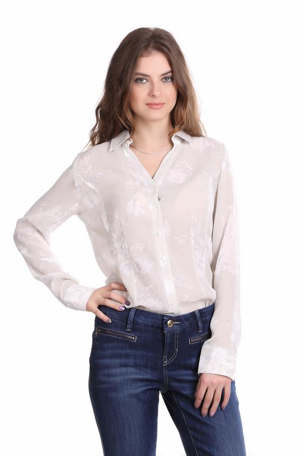 Блузa PezzoБлузы<br>Светло-бежевая блуза для женщин от бренда Pezzo приталенного кроя выполнена из полупрозрачной ткани. Изделие дополнено: отложным воротником с v-образным воротом и длинными рукавами с манжетами на пуговицах. Центральная часть застегивается на планку с пуговицами. Блуза декорирована цветочным принтом. Прекрасный выбор для офисно-делового стиля, гармонично смотрится как с брюками, так и с юбками.<br><br>Размер RU: 44<br>Пол: Женский<br>Возраст: Взрослый<br>Материал: полиэстер 100%<br>Цвет: Разноцветный