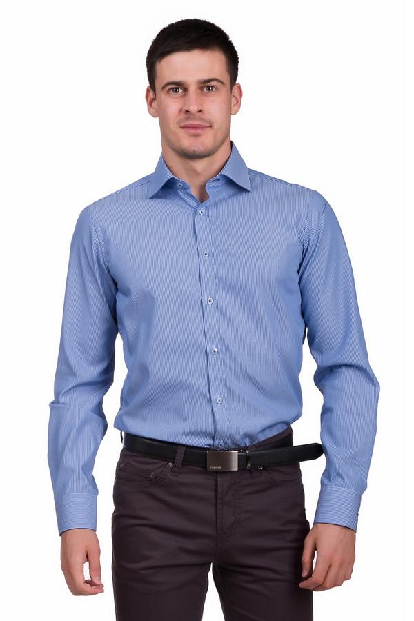 Рубашка с длинным рукавом VentiДлинный рукав<br>Классическая мужская рубашка Venti голубого цвета с синими элементами. Данное изделие было изготовлено из натурального хлопка. Эта модель предназначена для периода межсезонья. Рубашка не облегает фигуру и с длинными рукавами. Дополнена манжетами и мелкими вертикальными полосами. Застегивается с помощью мелких прозрачных пуговиц. Является базой стильного и сдержанного образа.<br><br>Размер RU: 45<br>Пол: Мужской<br>Возраст: Взрослый<br>Материал: хлопок 100%<br>Цвет: Синий