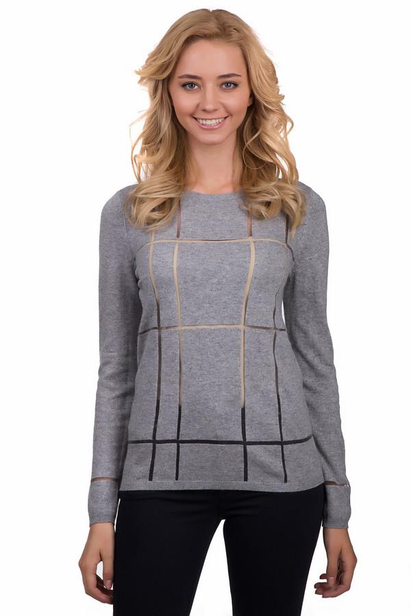 Пуловер OuiПуловеры<br>Стильный женский пуловер Oui серого цвета. Это изделие было выполнено из кашемира, полиэстера, полиамида, вискозы и хлопка. Данная модель предназначена для демисезонного периода. Пуловер сидит по фигуре и с длинными рукавами. Дополнен сетчатыми элементами. Идеально будет сочетаться как с брюками, так и с юбками.<br><br>Размер RU: 50<br>Пол: Женский<br>Возраст: Взрослый<br>Материал: кашемир 5%, полиэстер 1%, полиамид 27%, вискоза 47%, хлопок 20%<br>Цвет: Серый
