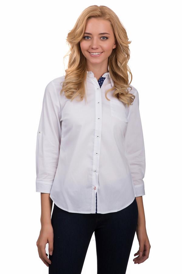 Блузa PezzoБлузы<br>Стильная женская блуза Pezzo белого цвета. Это изделие было выполнено из хлопка, спандекса и нейлона. Данная модель предназначена для демисезонного периода. Блуза свободного кроя и с укороченными рукавами. Дополнена манжетами на рукавах. Застегивается с помощью маленьких пуговиц. Сочетается с одеждой разных стилей и расцветок.<br><br>Размер RU: 46<br>Пол: Женский<br>Возраст: Взрослый<br>Материал: хлопок 78%, спандекс 3%, нейлон 19%<br>Цвет: Белый