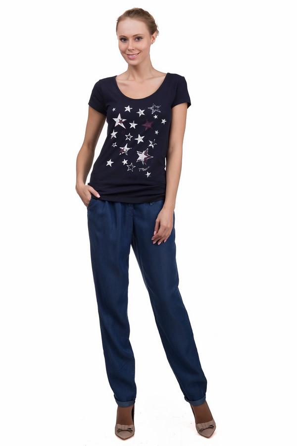 Брюки SteilmannБрюки<br>Стильные женские брюки Steilmann синего цвета. Это изделие было выполнено из лиоцела. Данная модель предназначена для летнего сезона. Брюки свободного кроя. Дополнены тонким ремнем сверху и карманами. Отлично смотрится с однотонными топами и футболками.<br><br>Размер RU: 46<br>Пол: Женский<br>Возраст: Взрослый<br>Материал: лиоцел 100%<br>Цвет: Синий