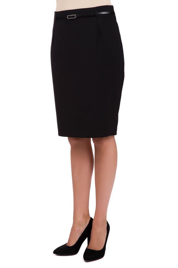 Юбка SteilmannЮбки<br>Простая женская юбка Steilmann черного цвета. Это изделие было изготовлено из эластана, вискозы и полиэстера. Данную модель можно носить круглый год. Юбка средней длины. Дополнена шлевками, тонким ремешком и застежкой сзади. Сидит по фигуре. Сочетается с блузами и рубашками. Отличный вариант для похода на работу.<br><br>Размер RU: 54<br>Пол: Женский<br>Возраст: Взрослый<br>Материал: эластан 5%, вискоза 33%, полиэстер 62%<br>Цвет: Чёрный