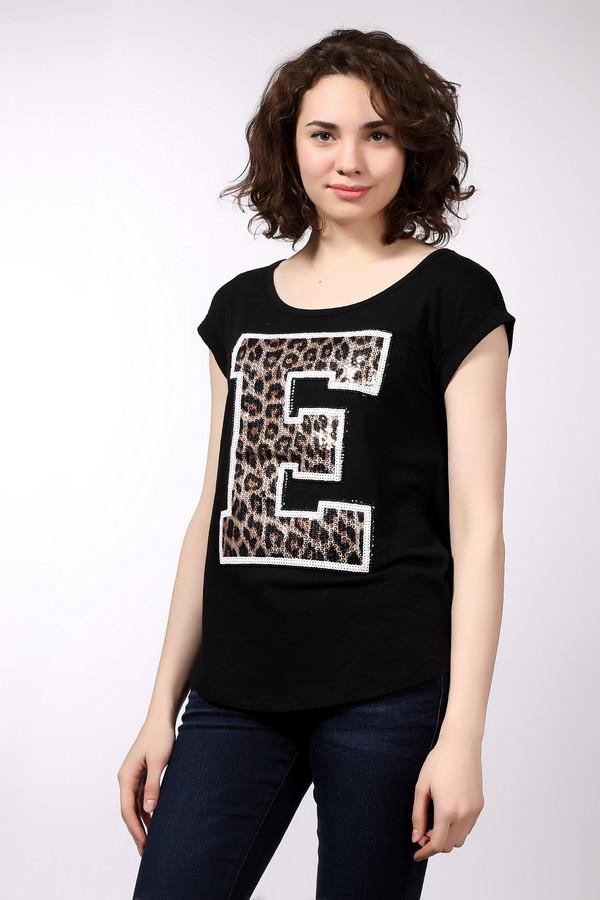 Футболка EssentielФутболки<br>Молодежная женская футболка Essentiel белого, чёрного и коричневого цветов. Модель была сделана из эластана, полиэстера, хлопка и вискозы. Данное изделие предназначено для летнего сезона. Дополнена изображением большой буквы Е в белых и леопардовых пайетках. Эта футболка сидит по фигуре.<br><br>Размер RU: 44-46<br>Пол: Женский<br>Возраст: Взрослый<br>Материал: эластан 5%, полиэстер 48%, хлопок 36%, вискоза 11%<br>Цвет: Разноцветный