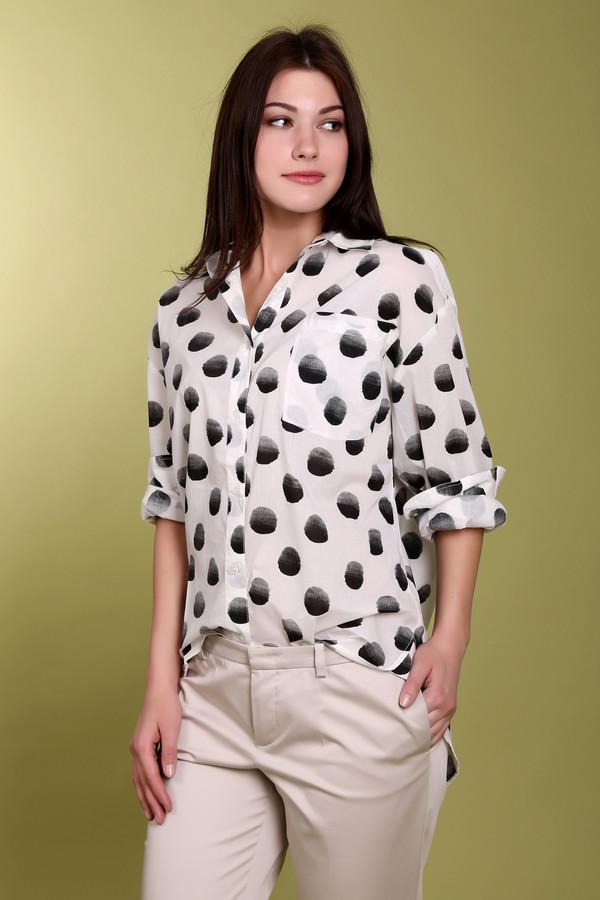 Блузa EssentielБлузы<br>Модная женская блуза Essentiel белого и черного цветов. Это изделие было выполнено из натурального хлопка. Модель предназначена для демисезонного периода. Дополнена крупным черным горохом на белом фоне, карманом на груди и маленькими разрезами по бокам. Блуза свободного кроя. Отлично сочетается с облегающими юбками и брюками.<br><br>Размер RU: 48<br>Пол: Женский<br>Возраст: Взрослый<br>Материал: хлопок 100%<br>Цвет: Чёрный