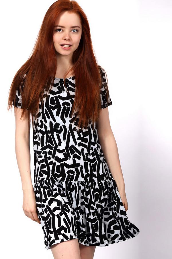 Платье EssentielПлатья<br>Короткое платье Essentiel серого и черного цветов. Это изделие было выполнено из эластана и полиэстера. Данная модель предназначена для летнего сезона. Дополнено черными мелкими узорами на сером фоне. Рукава укороченные.Задняя часть слегка удлинена. Подойдет для любых мероприятий.<br><br>Размер RU: 40-42<br>Пол: Женский<br>Возраст: Взрослый<br>Материал: эластан 6%, полиэстер 94%<br>Цвет: Чёрный