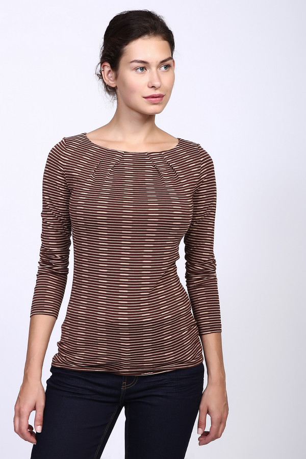 Лонгслив Just ValeriЛонгсливы<br>Стильный женский лонгслив Just Valeri коричневого цвета с бежевыми деталями. Это изделие было выполнено и вискозы, хлопка и спандекса. Данная модель предназначена для демисезонного периода. Дополнен полосатым мелким рисунком. Сочетается с темной однотонной одеждой или темным денимом. Можно носить как с юбками, так и с брюками.<br><br>Размер RU: 42<br>Пол: Женский<br>Возраст: Взрослый<br>Материал: вискоза 63%, хлопок 32%, спандекс 5%<br>Цвет: Бежевый