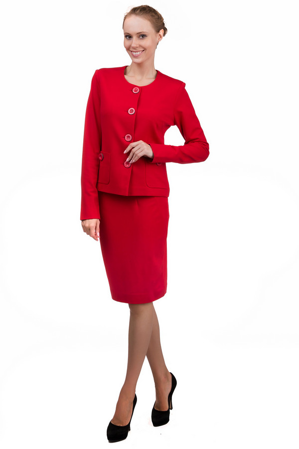 Юбка PezzoЮбки<br>Строгая женская юбка Pezzo красного цвета. Это изделие было выполнено из вискозы, нейлона и спандекса. Данная модель предназначена для демисезонного периода. Юбка средней длины. Дополнена разрезом сзади, резинкой сверху и застежкой на молнии. Сочетается с женственными блузами и со строгими жакетами темных тонов. В комплект к юбке можно приобрести  жакет Pezzo .<br><br>Размер RU: 48<br>Пол: Женский<br>Возраст: Взрослый<br>Материал: вискоза 68%, нейлон 26%, спандекс 6%<br>Цвет: Красный
