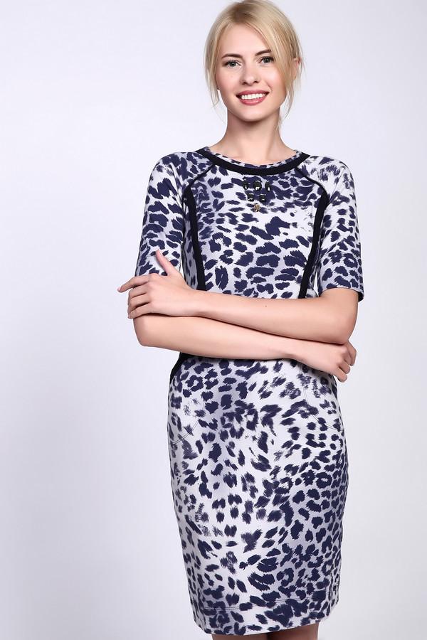 Платье Just ValeriПлатья<br>Оригинальное женское платье Just Valeri из плотного материала с хищным леопардовым принтом. Это изделие было выполнено из хлопка и спандекса. Данная модель предназначена для демисезонного периода. Платье средней длины и с укороченными рукавами. Дополнено боковыми карманами и вставками на вороте и на талии.<br><br>Размер RU: 42<br>Пол: Женский<br>Возраст: Взрослый<br>Материал: хлопок 95%, спандекс 5%<br>Цвет: Разноцветный