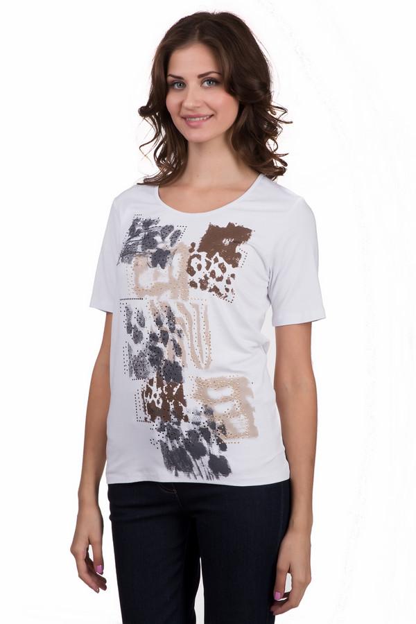 Футболка SteilmannФутболки<br>Стильная мужская рубашка Venti серого цвета. Эта модель была изготовлена из натурального хлопка. Данная модель предназначена для периода межсезонья. Рубашка не облегает фигуру. Дополнена манжетами на рукавах. Застёгиваются на мелкие прозрачные пуговички. Такая вещь подойдет для похода на важное мероприятие. Можно носить навыпуск ил заправлять.<br><br>Размер RU: 46<br>Пол: Женский<br>Возраст: Взрослый<br>Материал: эластан 8%, вискоза 92%<br>Цвет: Разноцветный
